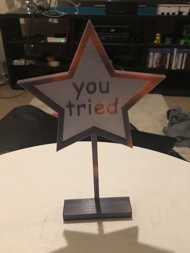 'you tried' comic sans trophy 3D Print 192610