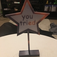 Small 'you tried' comic sans trophy 3D Printing 192610