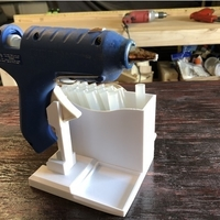 Small Glue Gun Caddy Stand w Cord Wrap 3D Printing 192656