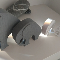 Small Stylish Elephant 3D Printing 192782