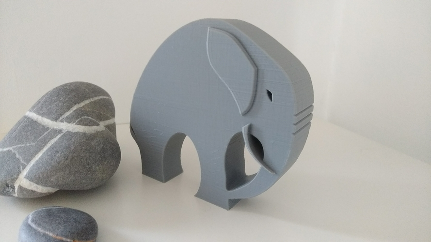 Stylish Elephant 3D Print 192791