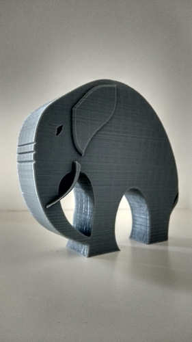 Stylish Elephant 3D Print 192792