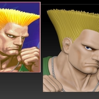 Small Guile from Street Fighter 2 3D Printing 192801