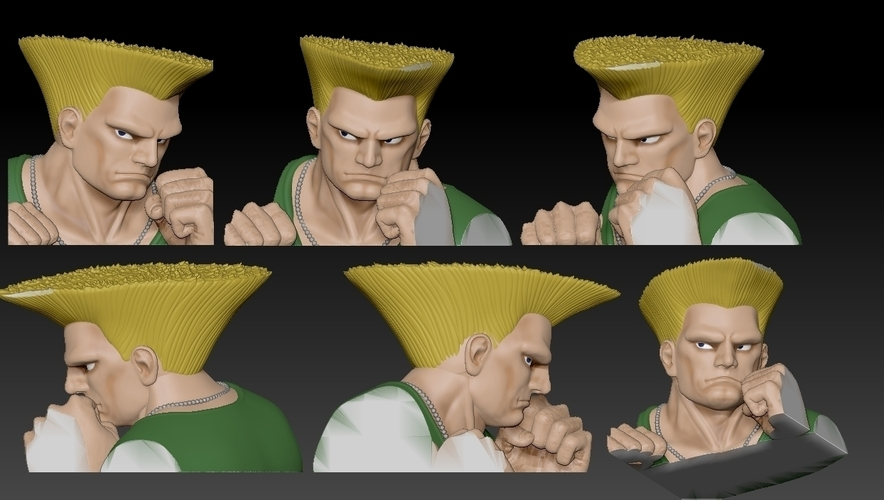 Guile from Street Fighter 2 3D Print 192803