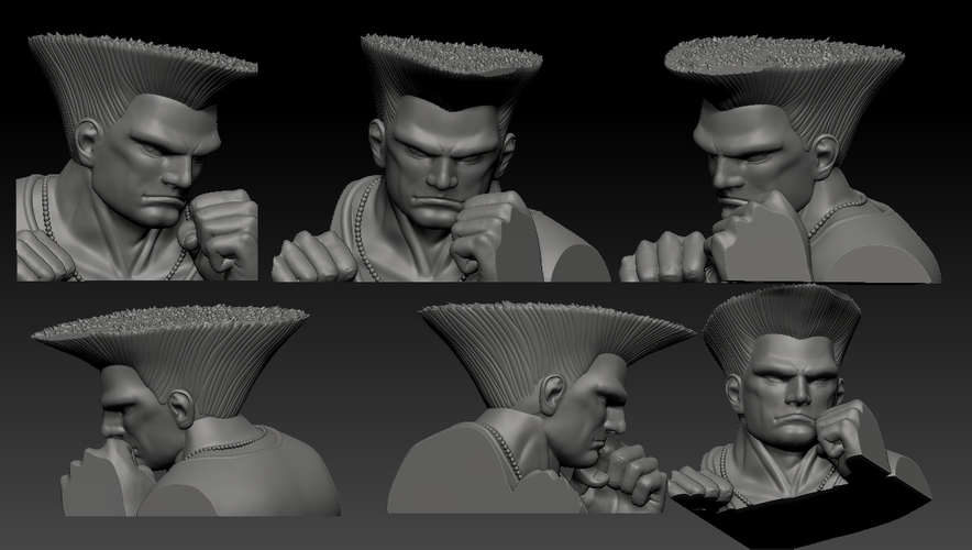 Guile from Street Fighter 2 3D Print 192804
