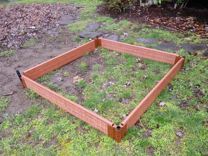 Raised Garden wood hinge replacement (frame it all) 3D Print 192811
