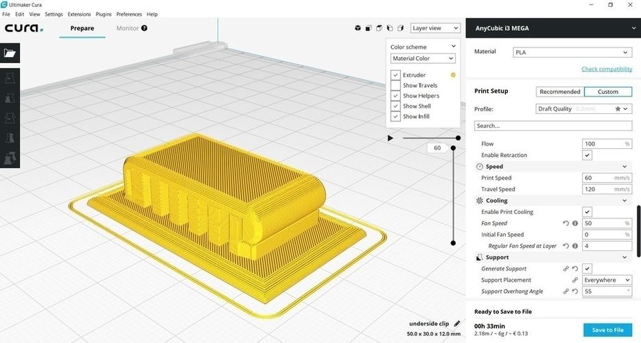 3D Printed Underside Clip by D_Wizard | Pinshape