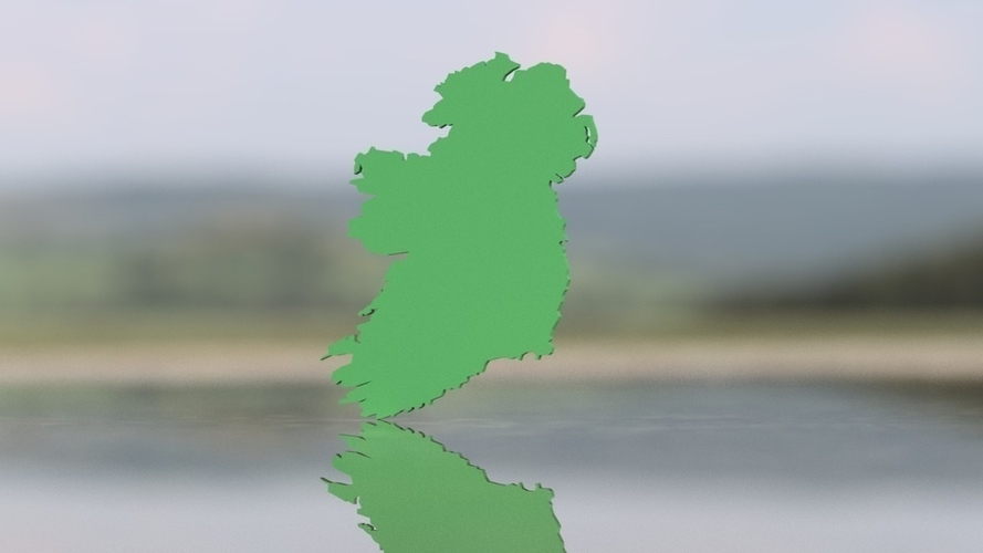 Map Of Ireland 3d.3d Printed Ireland Map By D Wizard Pinshape
