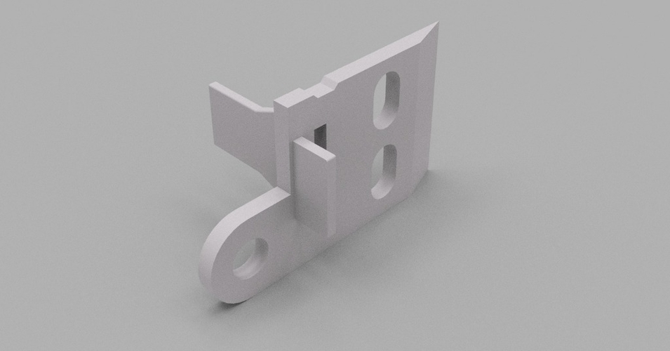 Ikea curtain panel rail bracket 3D Print 192901