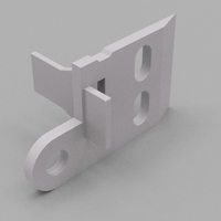 Small Ikea curtain panel rail bracket 3D Printing 192901