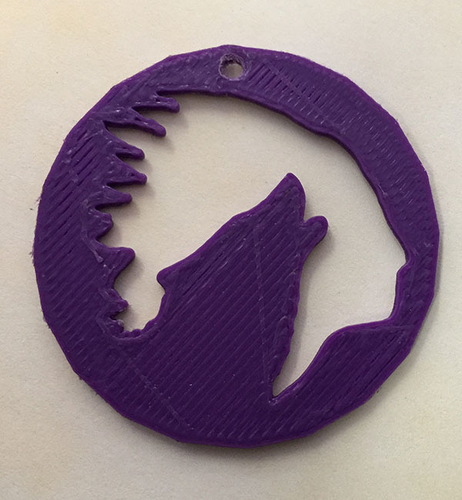 Chief Howling wolf Pendant or earrings 3D Print 192919