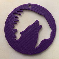 Small Chief Howling wolf Pendant or earrings 3D Printing 192919