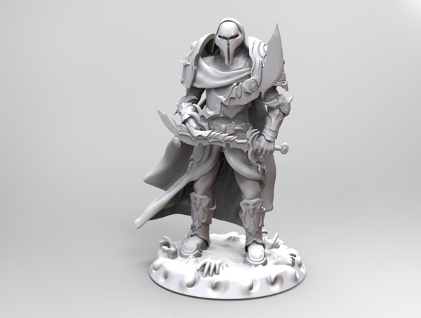 Medium heavenly warrior steel 3D Printing 19292