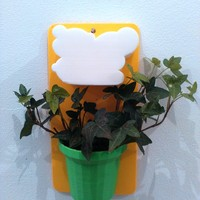 Small Wall Flower Mount 3D Printing 19309