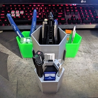 Small Modular USB & Pen Holder 3000 3D Printing 193213