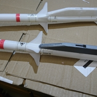 Small Freewing F-16 70mm 1/12 AGM 88 Rocket with bracket 3D Printing 193233