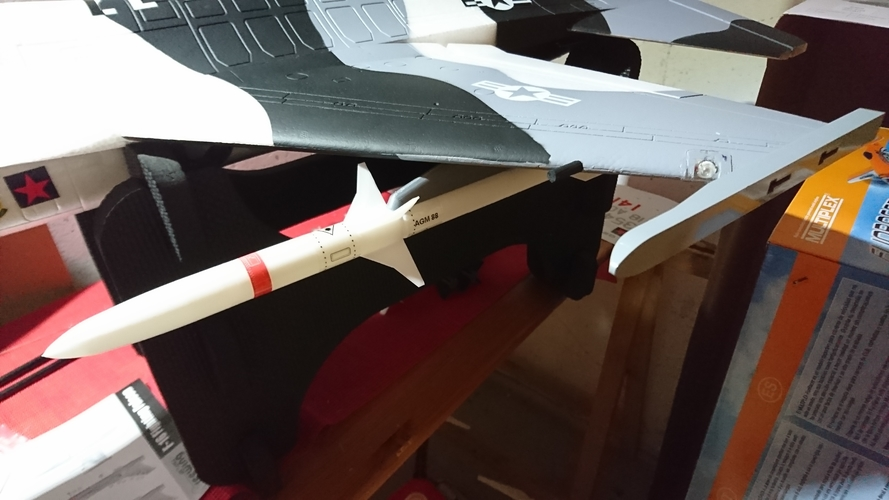 Freewing F-16 70mm 1/12 AGM 88 Rocket with bracket 3D Print 193234