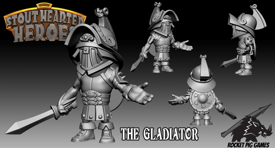 Rocket Pig Games Gladiator 3D Print 193254