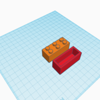 Small Lego container 3D Printing 193277
