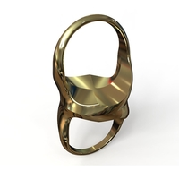 Small Siamese Souls Ring  3D Printing 193296