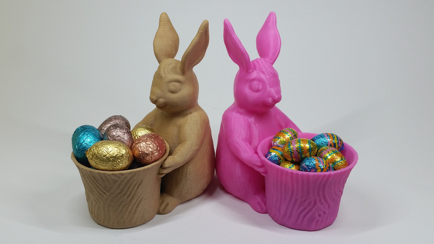 Easter Bunny Toy/Pot/Planter 3D Print 193398
