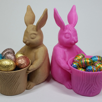 Small Easter Bunny Toy/Pot/Planter 3D Printing 193398
