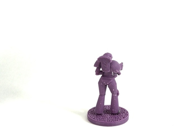 Female Space Trooper (supportless printing) 3D Print 1934