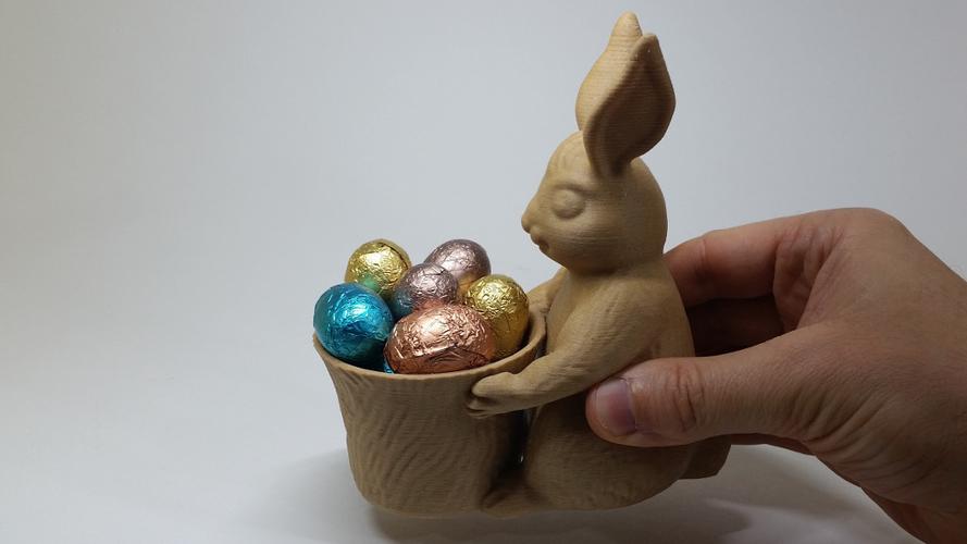Easter Bunny Toy/Pot/Planter 3D Print 193400