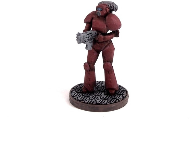 Female Space Trooper (supportless printing) 3D Print 1935