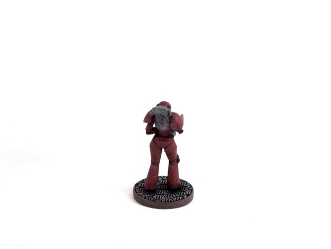 Female Space Trooper (supportless printing) 3D Print 1936