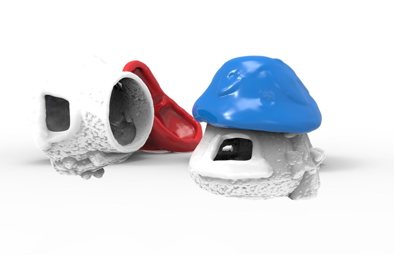 Smurf house for sugar gliders or other little pets 3D Print 193632