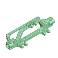 Small Hot-Rod front Axle with Servo and 4 Link Mount 145mm 3D Printing 193640