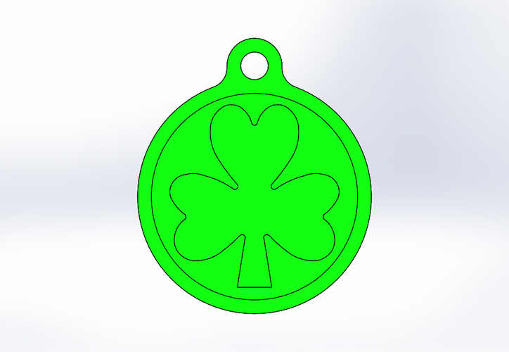 Key Chain-Irish Symbol-Style 1 3D Print 193649
