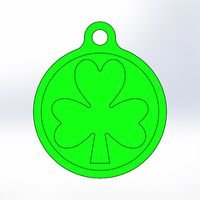 Small Key Chain-Irish Symbol-Style 1 3D Printing 193649