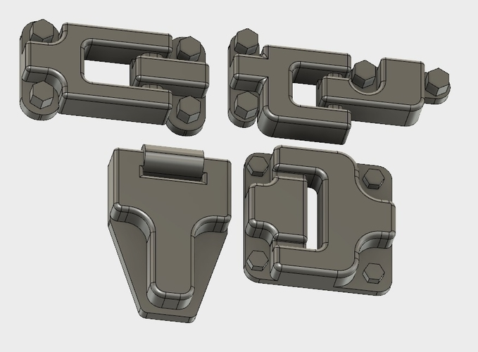 Door hinges for Traxxas TRX-4 body 3D Print 193671