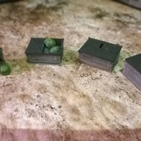 Small Battlefield - Dumpsters Assorted Scatter  3D Printing 193685