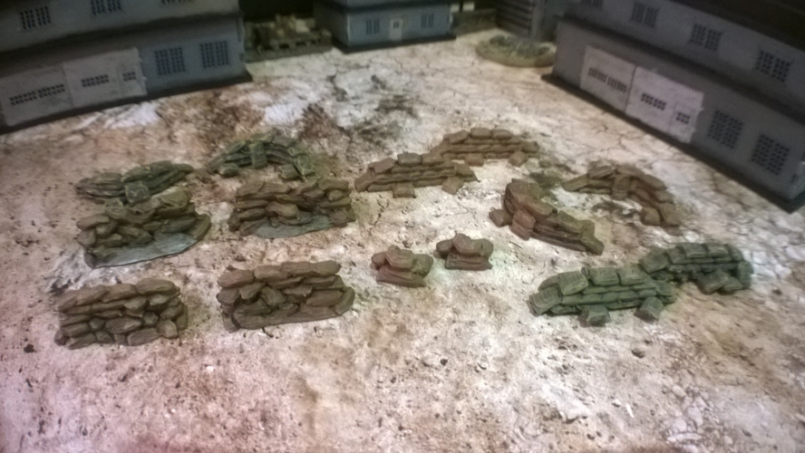 Battlefield - Assorted scatter Sandbags  3D Print 193691