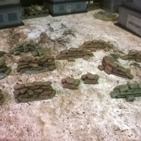 Small Battlefield - Assorted scatter Sandbags  3D Printing 193691