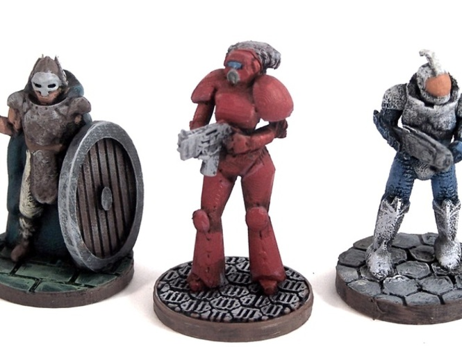 Female Space Trooper (supportless printing) 3D Print 1937