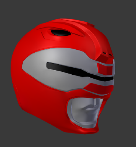 power rangers the movie red ranger helmet with scanner