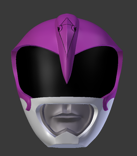 mighty morphin power rangers the movie pink ranger helmet 3D Print 193713