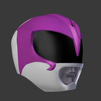 Small mighty morphin power rangers the movie pink ranger helmet 3D Printing 193715