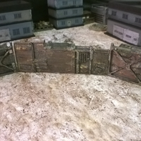 Small Battlefield -Container Junk Walls 3D Printing 193738