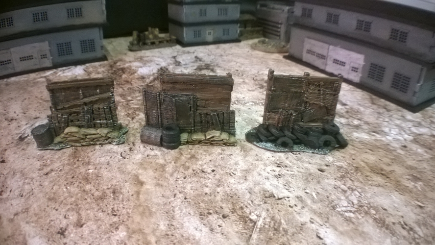 Battlefield - Junk Walls with Sandbags  3D Print 193740