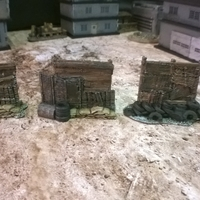 Small Battlefield - Junk Walls with Sandbags  3D Printing 193740