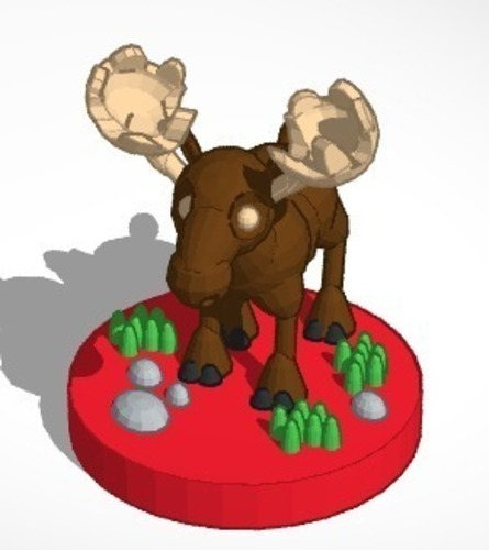Moose (king)  #Chess 3D Print 19377