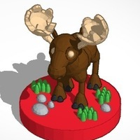 Small Moose (king)  #Chess 3D Printing 19377