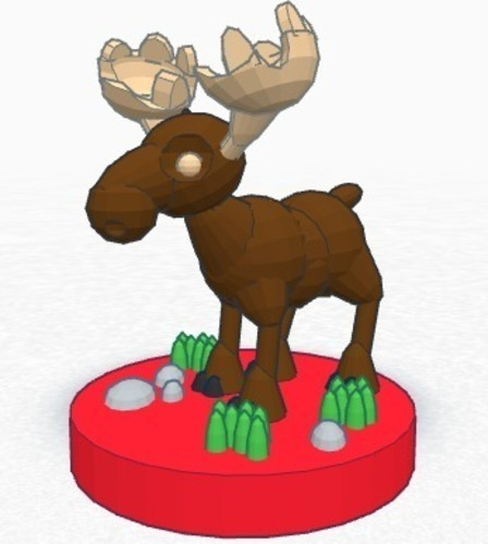Moose (king)  #Chess 3D Print 19378