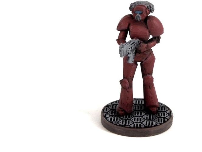 Female Space Trooper (supportless printing) 3D Print 1938