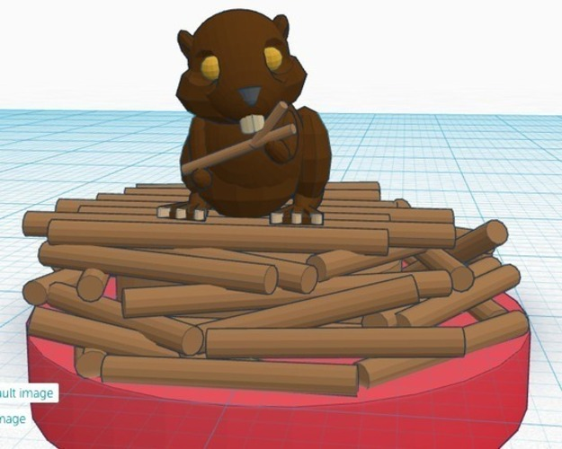 Beaver (Rock)  #Chess 3D Print 19380
